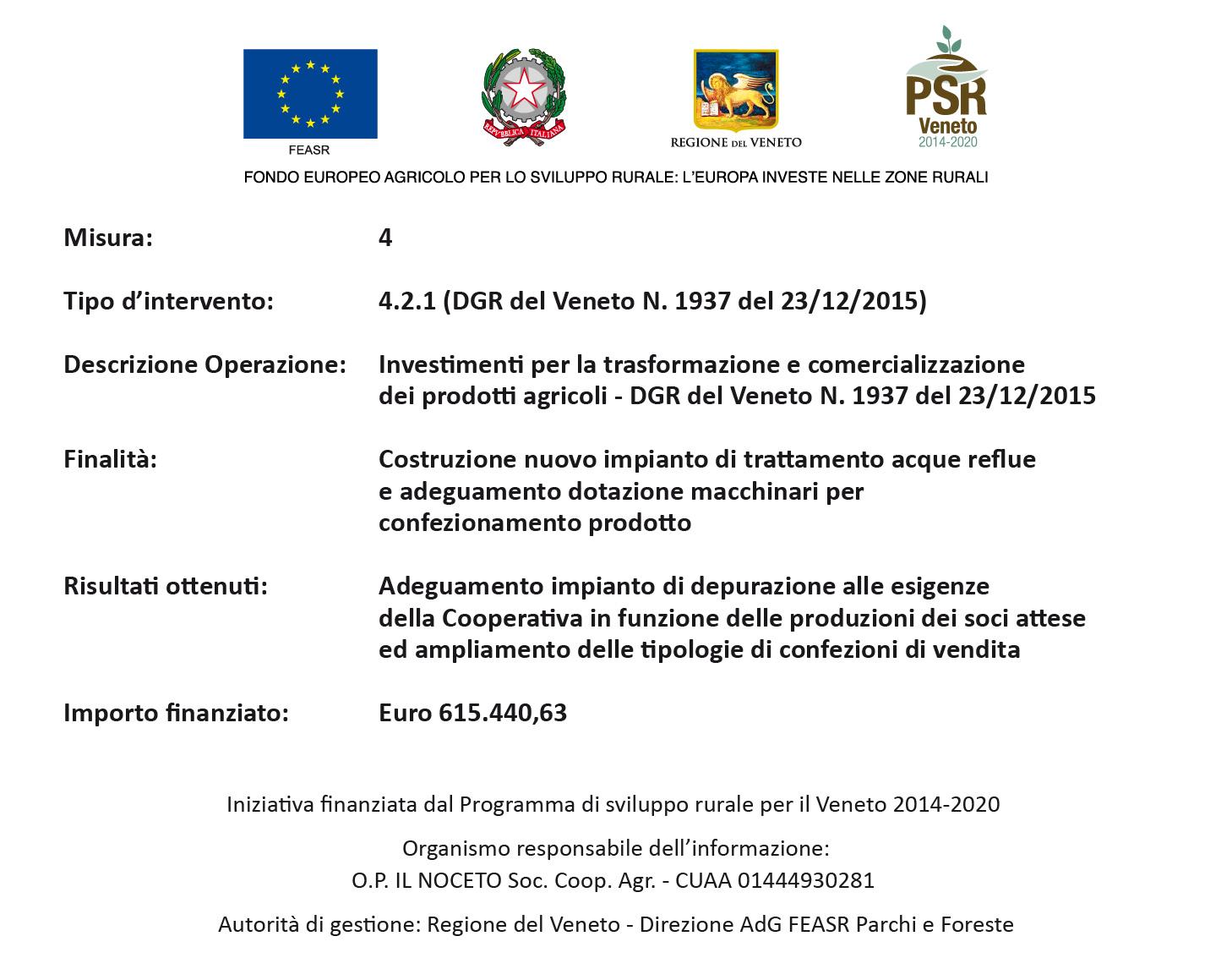 Iniziativa finanziaria dal Programma di Sviluppo rurale per il Veneto 2014-2020